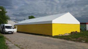 Przykładowa hala namiotowa